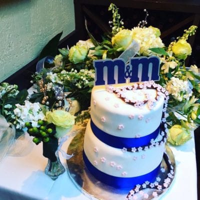 M&M Wedding Cake