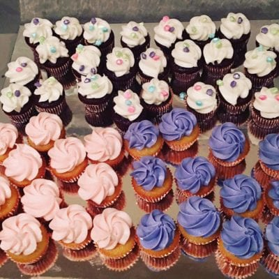 Mini cupcakes baby shower