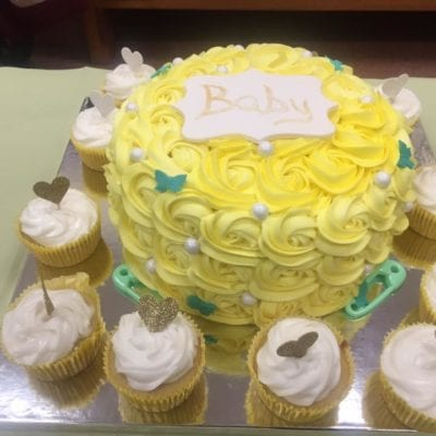 Delorcakery yellowbabyshower